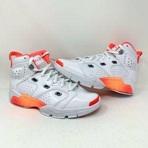 Nike Air Jordan White Flash Crimson Orange Women's